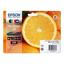 Cartuccia Epson - 33 multipack - confezione da 5 c13t33374021