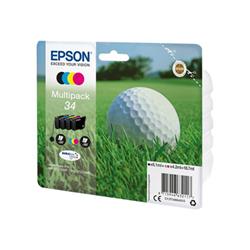 Cartuccia Epson - 34 multipack - confezione da 4 - nero, giallo, cyan, magenta c13t34664020
