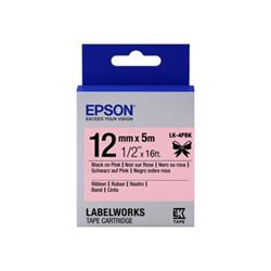 Nastro Epson - Labelworks lk-4pbk - nastro - satinata - 1 cassetta(e) c53s654031