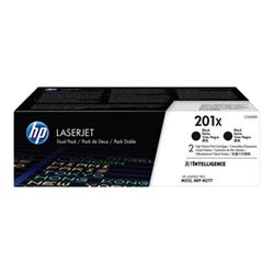 Image of 201x - confezione da 2 - alta resa - nero - originale - laserjet cf400xd