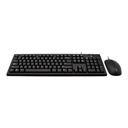 Kit tastiera mouse V7 - Set mouse e tastiera - us - nero cku200us-e