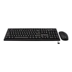 Kit tastiera mouse V7 - Set mouse e tastiera - us - nero ckw200us-e