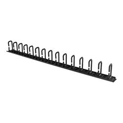 Startech - Startech.com pannello di gestione cavi verticale 0u con ganci a d per server da