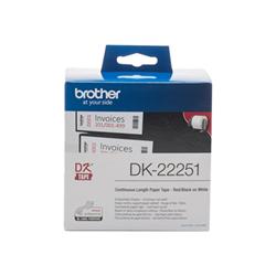 Nastro Brother - Carta a modulo continuo etichette - 1 rotoli dk22251