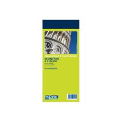 Modulistica Data Ufficio - Ricevuta - 100 fogli - 130 x 58 mm du160000526
