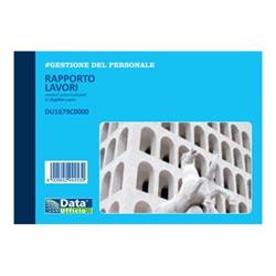 Modulistica Data Ufficio - Libro report lavorativo - 50 fogli - 165 x 115 mm du1679c0000