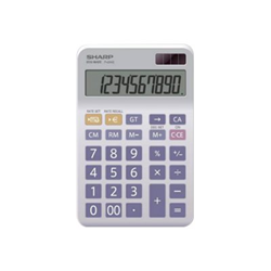 Calcolatrice Sharp - El334enb 10 cifre  doppia alimenta