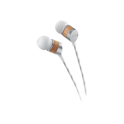 House of Marley Uplift - Écouteurs avec micro - intra-auriculaire - jack 3,5mm - blanc/liège
