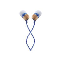 House of Marley Smile Jamaica - Écouteurs avec micro - intra-auriculaire - jack 3,5mm - isolation acoustique - denim blue