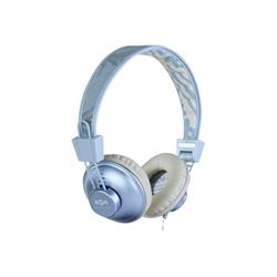 House of Marley Positive Vibration - Casque avec micro - pleine taille - jack 3,5mm - chanvre bleu