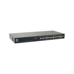 Switch Digital Data - Levelone - switch - 26 porte - intelligente - montabile su rack gep-2651
