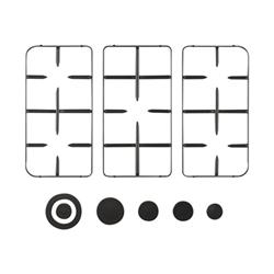 Kit accessori Kit accessori per piano cottura nero grp1486