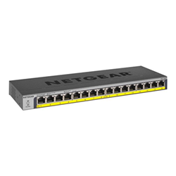 Switch Netgear - Gs116pp - switch - 16 porte - unmanaged - montabile su rack gs116pp-100eus