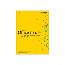 Software Office for mac home and student 2011 box pack 1 installazione gza 00269