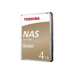 Hard disk interno Toshiba - N300 - hdd - 4 tb - sata 6gb/s hdwq140ezsta