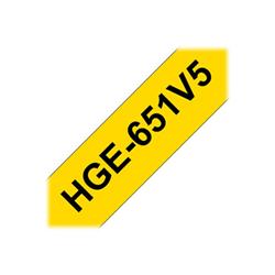 Nastro Brother - Hge-651v5 - nastro laminato - 5 cassetta(e) - rotolo (2,4 cm x 8 m) hge651v5