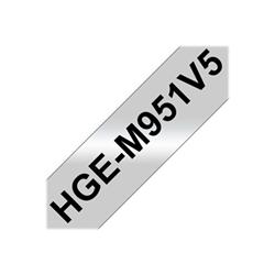 Nastro Brother - Hge-m951v5 - nastro laminato - 5 cassetta(e) - rotolo (2,4 cm x 8 m) hgem951v5