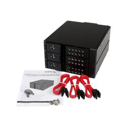 Box hard disk esterno Startech - Startech.com scheda backplane per rack portatili hot-swap trayless in alluminio