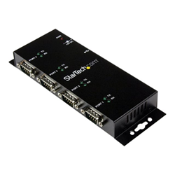 Hub Startech - Startech.com hub adattatore seriale usb a db9 rs232 4 porte ? guide din industr