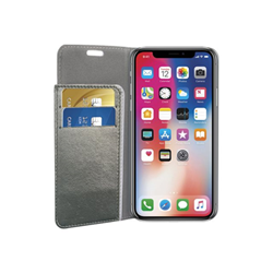 Cover SPARKLING BOOK CASE GRAY IPHONE X