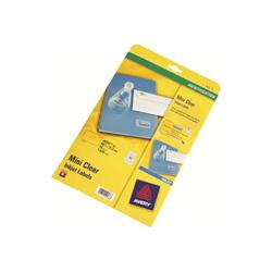 Etichette Clear mini label etichette 1625 pezzi 21.2 x 38.1 mm j8551 25
