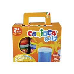 Tempera Carioca - Baby funny fingers - colori a dita - colori assortiti brillanti ko032