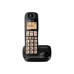 Telefono fisso Panasonic - Cordless tasti grandi black