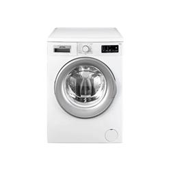 Lave-linge Smeg LBW810IT - Machine à laver - pose libre - largeur : 59.7 cm - profondeur : 56 cm - hauteur : 84.5 cm - chargement frontal - 8 kg - 1000 tours/min - blanc