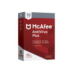 Software McAfee - Antivirus plus - box pack (1 anno) - 10 dispositivi mav00iexxraa