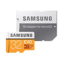 Micro SD Samsung - Evo mb-mp32ga - scheda di memoria flash - 32 gb - uhs-i microsdhc mb-mp32ga/eu