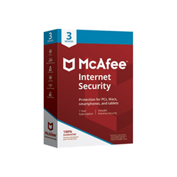 Software McAfee - Internet security - box pack (1 anno) - 3 dispositivi mis00inr3raa