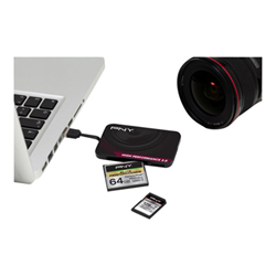 lettore memory card PNY - High performance reader 3.0 lettore di schede - usb 3.0 flashread-higper-bx