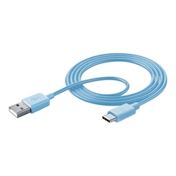 Custodia Cellular Line - CAVO DATI USB TYPE-C BLU
