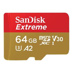 Micro SD Sandisk - Extreme - scheda di memoria flash - 64 gb - uhs-i microsdxc sdsqxa2-064g-gn6aa