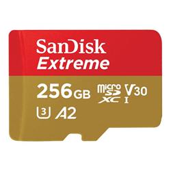 Micro SD Sandisk - Extreme - scheda di memoria flash - 256 gb - uhs-i microsdxc sdsqxa1-256g-gn6ma