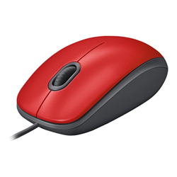 Image of Mouse M110 silent - mouse - usb - rosso 910-005489