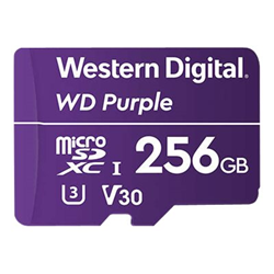 Micro SD Western Digital - Wd purple - scheda di memoria flash - 256 gb - microsdxc wdd256g1p0a
