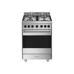 Cucina a gas Smeg - Classica - cucina - libera installazione - acciaio  inossidabile b61gmxi9