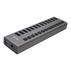 I-TEC - Usb 3.0 charging hub 13 port + power adapter 60 w - hub - 13 porte u3chargehub13