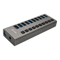 I-TEC - Usb 3.0 charging hub 10 port + power adapter 48 w - hub - 10 porte u3chargehub10