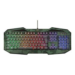 Kit tastiera mouse Trust - Gxt 830 rw-c avonn - tastiera - italiano - mimetico 23369