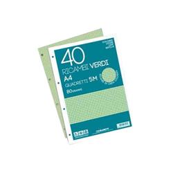 Blasetti - RICAMBI A4 VERDI  80 GR 40FF 5M