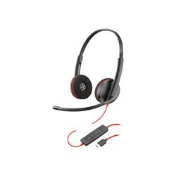 Auricolari con microfono Poly blackwire c3220 usb c cuffie con microfono 209749 104