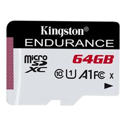 Micro SD Kingston - High endurance - scheda di memoria flash - 64 gb - uhs-i microsdxc sdce/64gb