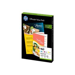Carta HP - 963 office value pack - confezione da 3 - giallo, ciano, magenta 6jr42ae