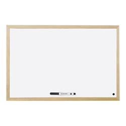 Lavagna Bi-Office - Budget wood lavagna bianca - 600 x 450 mm - bianco mm04001010