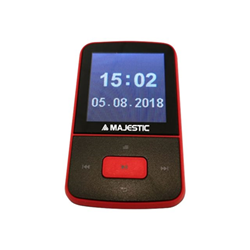 Lettore MP3 MAJESTIC - Bt-8484r mp3 - lettore digitale - scheda di memoria flash, bluetooth bt8484r