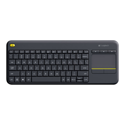 Tastiera Wireless touch keyboard k400 plus tastiera francese nero 920 007129
