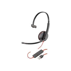 Cuffie con microfono Plantronics - Poly blackwire c3210 usb-a - cuffie con microfono 209744-104