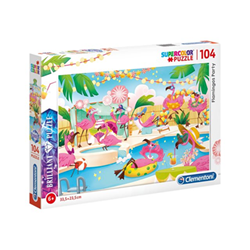 Puzzle Clementoni - Supercolor - flamingos party 20151b